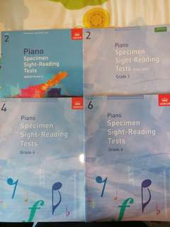 ABRSM Piano Specimen Sight-Reading Tests Grade 2, 4 and 6
