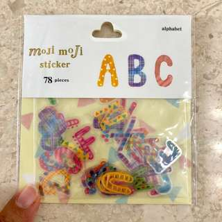 Fancy alphabet stickers, 78pcs