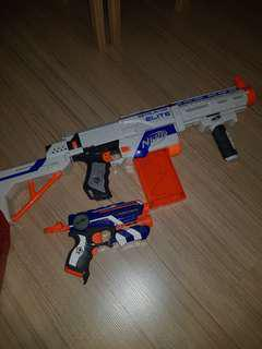 Nerf retaliator and Nerf firestrike