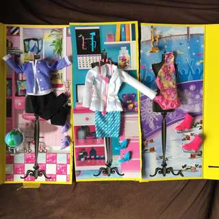 Barbie Career Fashion Packs with accessories