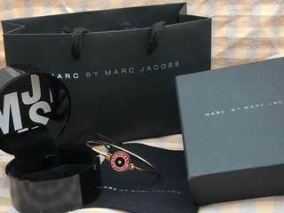 Marc By Marc Jacobs閃石手鐲(粉紅+金)