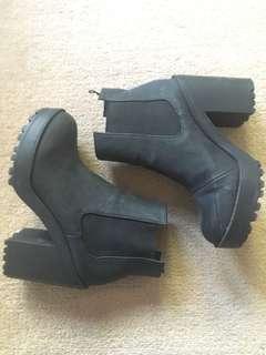 Chunky black boots