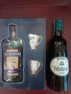 "Czech Herbal Liquor ""Becherovka"" & ""Pelinkovac Gorki"" (Croatian herbal liqueur) 克羅地亞草藥酒 & 捷克冰爵利口酒禮品裝"