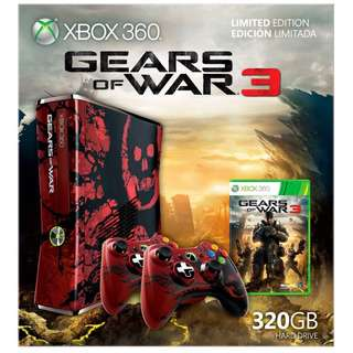 Xbox360 Gears of War Limited Edition Console and Vault case