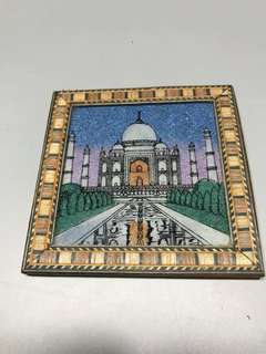Price Further Reduced 🌈Unique Drink 🥤Wood Crafted Coasters Taj Mahal Quartz 90mm square.
