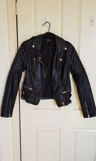 Top shop faux leather black jacket