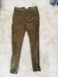 Passion fussion lace-up high wasted pants