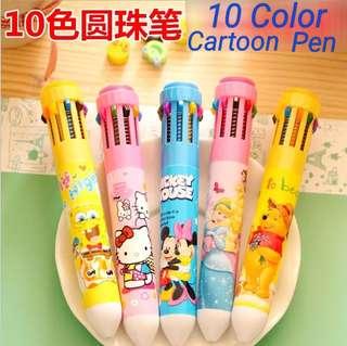 10 Color Cartoon Pen