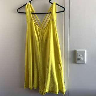 Yellow Playsuit - Size 10