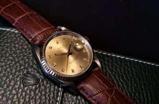 🚚 Rolex 16233 10pt Diamond Half Gold