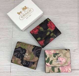 AUTHENTIC COACH CAMO FLOWER SMALL WALLET