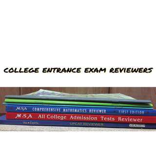 College entrance exam reviewers- complete set