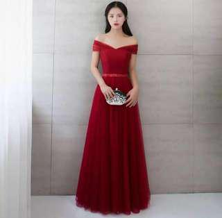 Wedding Gown / Evening Gown - Red