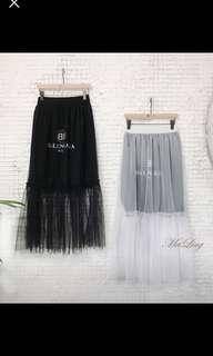 正韓白色蕾絲裙
