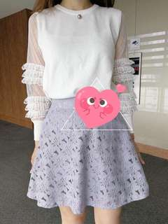 1 day sales 💕korean lace skirt