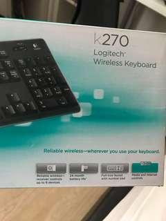 Logitech wireless keyboard, new and unused