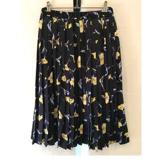 Mid-Length Floral Skirt
