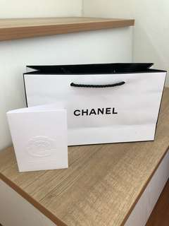 Chanel Paper Bag and card envelope