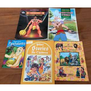 Set of 5 Indian story books