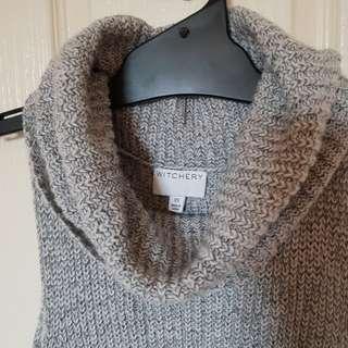 Witchery grey knit top cowl neck