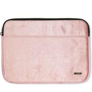 Typo Pink Velvet Laptop Case