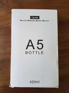 A5 water bottle