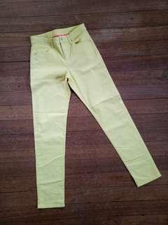 Uniqlo yellow straight pants