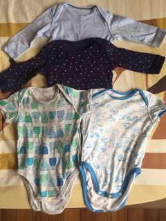 Baby bodysuit 4 pack