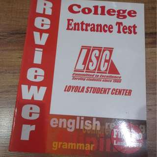 COLLEGE ENTRANCE TEST REVIEWER BOOKS LSC
