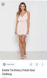 Fresh soul pale pink size 6 dress