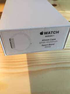 全新 Apple Watch 42mm case sliver sport band white series 1 第一代