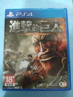 🚚 PS4遊戲 進擊的巨人