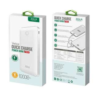 🚚 Zola Quick-Charge Powerbank Portable Charger 10000 mAH