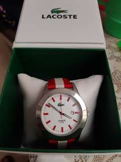 Lacoste Red and white stripes analog 2nd