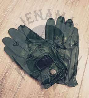 Motor Leather Glove Size L