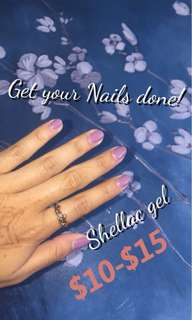 Nails shellac gel