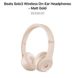 BNIB Beats Solo3 Wireless On-Ear Headphones