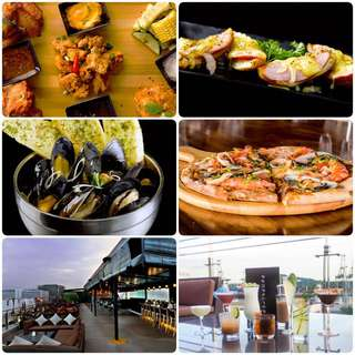 Merrier Hours at Propeller Alcoholic Drink and Food Buffet Voucher 2 Pax
