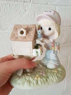 Precious Moments Figurine bird cage gift is my happiness