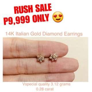 Layaway Diamond rositas 0.28 carat yellow gold earrings