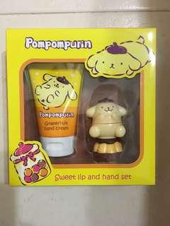 BNIB Pompompurin Sweet Lip and Hand Set [BNIB]