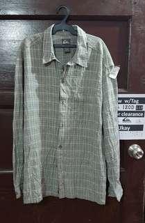 Quicksilver Gray Checkeres Long Sleeves (L)