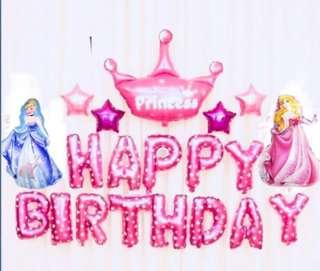 <In-stock> Happy Birthday Party Decoration set - Disney Princesses set A