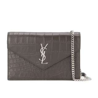 YSL Saint Laurent Monogram Chain Wallet woc