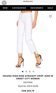 GRLFRND White Jeans HIGH-RISE STRAIGHT CROP