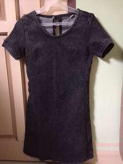 Bodycon Denim-Type Dress