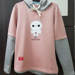 Nice pink big hero hoodie