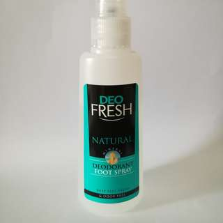 Deo Fresh Natural Mineral Foot Spray 100mL (75% full)