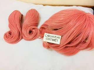 Pink Curly Pigtail Wig