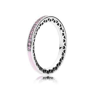 Pink Radiant Hearts of PANDORA Ring